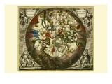 Haemisphaerium Stellatum Australe Aequali Prints by Andreas Cellarius