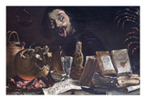 Magic Scene with Self Portrait Premium Giclee Print by Pieter Van Laer