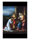 Christ Leaving His Mother Prints by Antonio Allegri Da Correggio