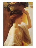 Eucharis - Girl with a Basket of Fruit Posters av Frederick Leighton