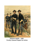 Indian Wars - 1888 - Cavalry General Prepare for Action Art by Henry Alexander Ogden