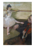 The Dance Lesson Posters by Edgar Degas