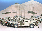 Gulf War U.S. Marines Humvees Photographic Print by Sadayuki Mikami