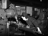 WWII Wales Women at Work Photographic Print by  Anonymous