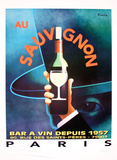 Au Sauvignon Collectable Print by  Razzia