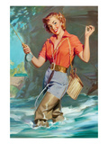 Pin-Up Fly Fishing Prints by William Medcalf