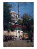 The Mosque of Sultan Achmet, Constantinople Affiches par Alberto Pasini