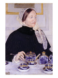 Lady at the Tea Table Print by Mary Cassatt