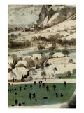 Hunters in the Snow - Detail Posters by Pieter Breughel the Elder