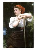 The Haymaker Affiches par William Adolphe Bouguereau