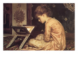 At a Reading Desk Art by Frederick Leighton