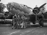 WWII Flying Fortress Crew 1942 Photographic Print