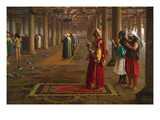 Prayer in a Mosque Premium Giclee Print by Jean Leon Gerome