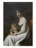Madame Philippe Desbassayns De Richemont (Jeanne Eglé Mourgue, 1778–1855) and Her Son, Eugène Print by Marie Guilhelmine Benoist