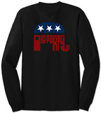 Long Sleeve: GOP Logo - Grand Old Party T-shirt a maniche lunghe