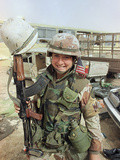 Saudi Arabia Army U.S. Troops Women Tanya Brinkley Photographic Print by David Longstreath
