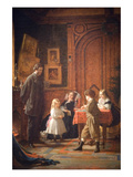 Christmas-Time, the Blodgett Family, 1864 Prints by Eastman Johnson