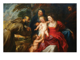 The Holy Family with Saints Francis and Infant St. John the Baptist Prints by Peter Paul Rubens