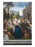 Virgin and Child with Angels Premium Giclee Print by Bernard van Orley