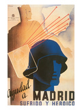 Help Tortured and Heroic Madrid Print by  Cabana y Contreras