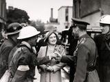 WWII Britain King Queen Workers Photographic Print by  Anonymous