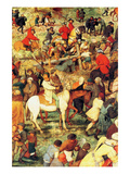 Procession to Cavalry - Detail Prints by Pieter Breughel the Elder