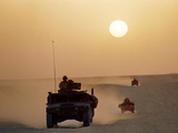 Saudi Arabia Army U.S Forces Mech. Equipment Kuwait Crisis Photographic Print by John Gaps III
