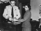 Rosa Parks Indicted 1956 Fotografie-Druck von  Associated Press