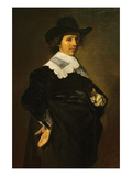 Portrait of a Man Holding Gloves Prints by  Rembrandt van Rijn