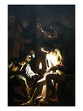 Christ Crowned with Thorns Premium Giclee Print by Gerrit van Honthorst