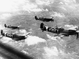 WWII British RAF Spitfires Photographic Print by  Anonymous