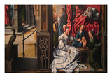 The Birth and Naming of Saint John the Baptist; Trompe-L'Oeil with Painting of the Man of Sorrows Premium Giclee Print by Bernard van Orley