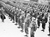 WWII Canadian Troops Inspection Photographic Print by  Anonymous