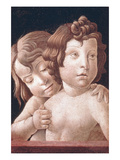 Christ and St John by Bellini Premium Giclee Print by Giovanni Bellini