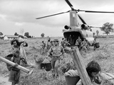 Vietnam War Montagnard Refugees Photographic Print by Henri Huet