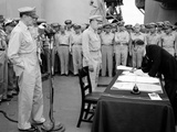 WWII Japan Surrender Ceremony Photographic Print by C.P. Gorry