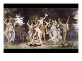 The Youth of Bacchus Print by William Adolphe Bouguereau