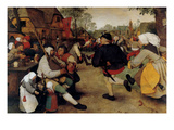 Dance of the Peasants - Detail Prints by Pieter Breughel the Elder