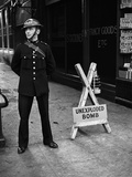WWII London Unexploded Bomb Photographic Print by  Anonymous
