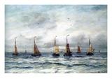 A Fishing Fleet Posters par Hendrik William Mesdag