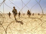 Saudi Arabia Army U.S Forces Maneuver Exercise Kuwait Crisis Photographic Print by Dave Martin