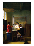 The Visit Prints by Pieter de Hooch