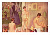 The Models Lámina por Georges Seurat