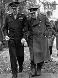 WWII Churchill Eisenhower Photographic Print by  Anonymous