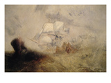 The Whale Ship Print by Joseph Mallord William Turner