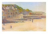 The Port and the Quay at Bessin Poster by Georges Seurat