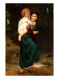 Crossing the Ford Posters by William Adolphe Bouguereau