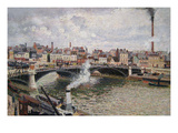 Morning, an Overcast Day in Rouen Reproduction giclée Premium par Camille Pissarro