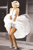 Marilyn Monroe - Sever Year Itch, White Dress, Color Prints