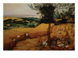 The Harvesters Poster by Pieter Breughel the Elder